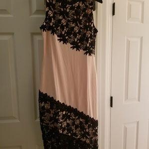 Peach colored dress